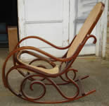 Customers antique damaged rocking chair 'before'