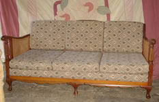 Antique 3 seater couch 'after' Upholstery