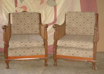 Antique chairs 'after' Upholstery