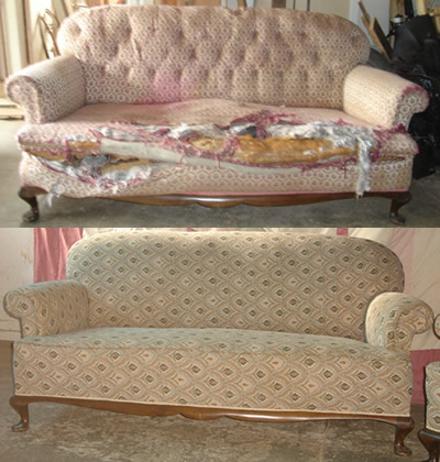 before and after furniture repairs